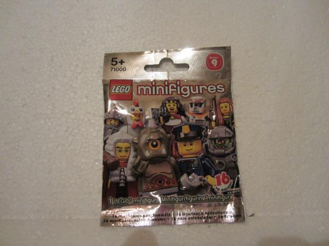 9 LEGO-Minifigures Série X 1 tête pour le cyclope de Série 9 Pièces