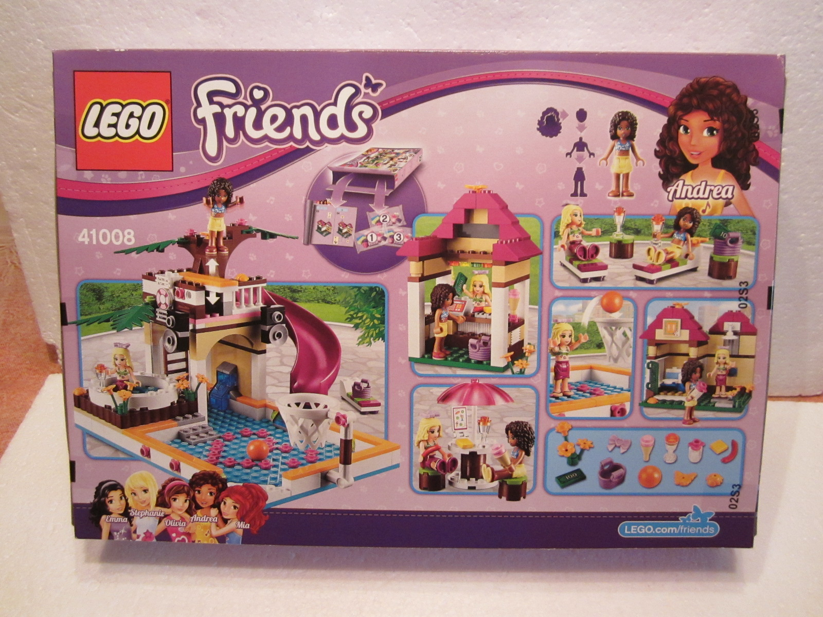 lego friends 41008 la piscine d heartlake city lego r. Black Bedroom Furniture Sets. Home Design Ideas