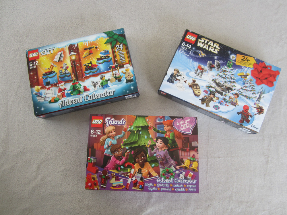 Les 3 calendriers Lego