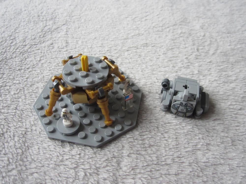 Lego Ideas 21309 : Départ de la lune et retour vers le module de commande.